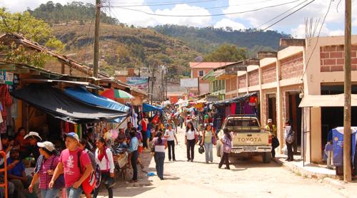 The Market in Marcala, Honduras