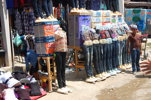 Jeans for sale in Marcala, Honduras