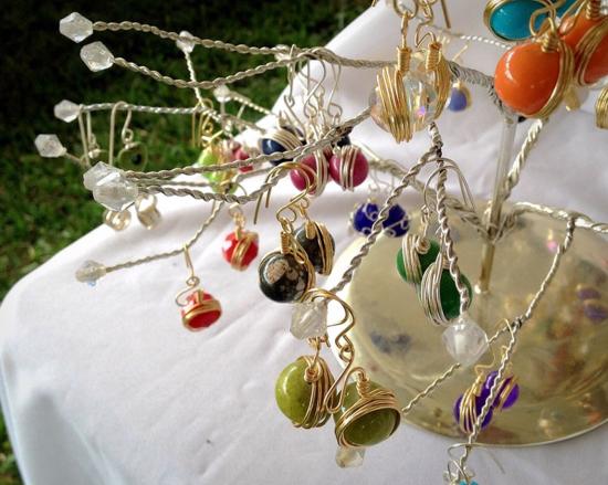 Earrings handcrafted in Honduras