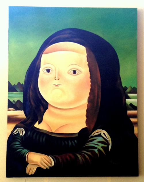 Fat Mona Lisa by Fernando Botero