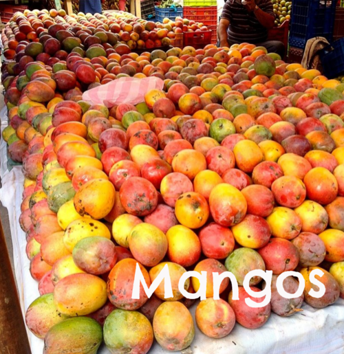 Mangoes at The Mercado market in Tegucigalpa, Honduras