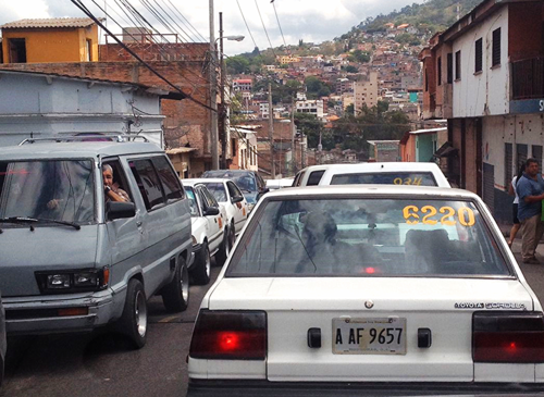 Traffic in Tegucigalpa, Honduras