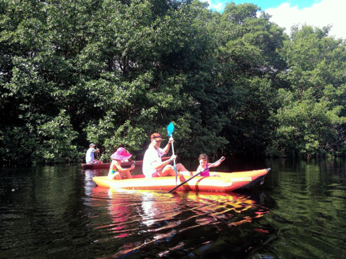 Kayaking with Kids on the Cacao Lagoon in La Ceiba, Honduras