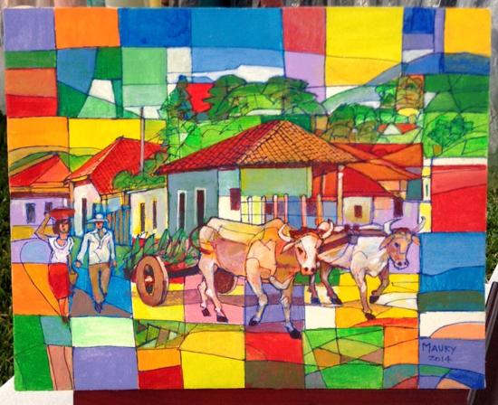 Maury painting in Honduras