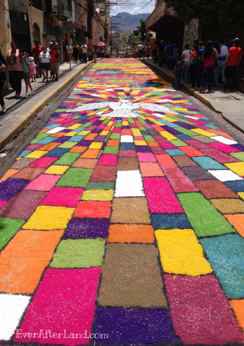Dove of Peace, Easter Carpet, Alfombra de Semana Santa