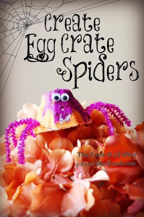 Halloween DIY Egg Crate Spider Craft