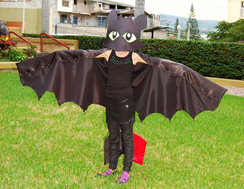 Homemade Sewn How To Train Your Dragon Costume with Bat, Vampire, or Dragon Wings