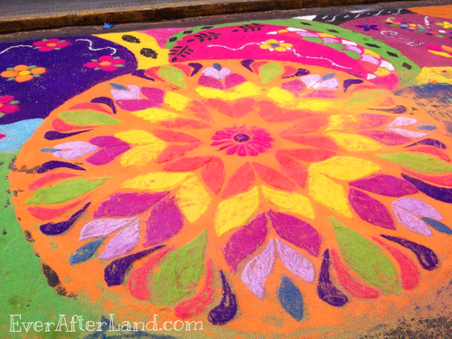 An Easter Carpet in Tegucigalpa, Honduras