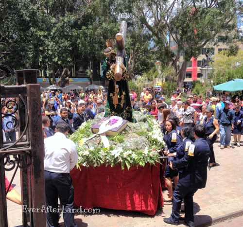 An effigy of Jesus carrying the Cross for a Semana Santa procession
